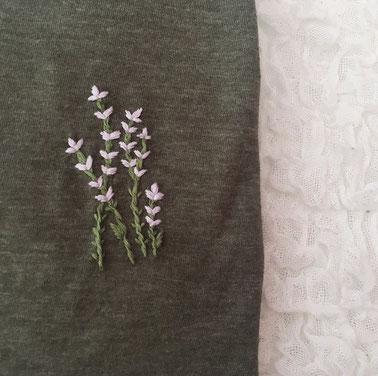 L'atelier brodé, Etsy Québec, T-shirt Lavande