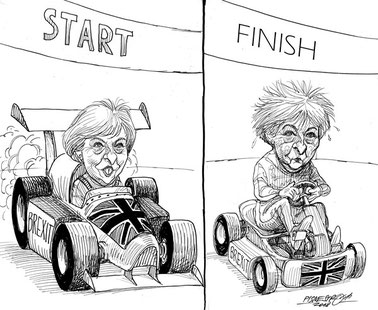 """""""The Brexit race"""", January 17th 2019, The Independent"""