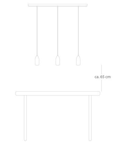 Optimale Höhe über dem Tisch