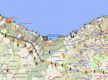 Sandsammelstelle Mallorca Nähe Alcudia - Kartenquelle: © OpenStreetMap-Mitwirkende