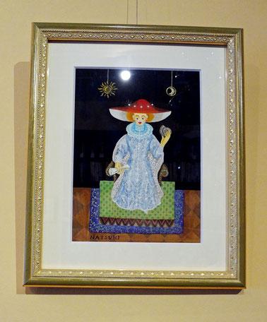 伊藤夏紀 個展「赤い帽子の貴婦人」 貝の小鳥