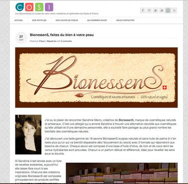 Bionessens dans Cosi blog