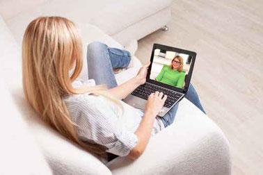 Online-Therapie von Zuhause aus