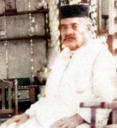 Meher Baba's father - Sheriar M. Irani. Image colourized by Anthony Zois.