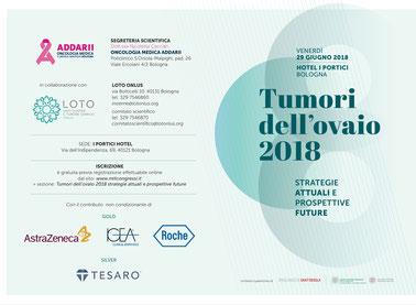 Locandina del congresso sui Tumori dell'ovaio 2018