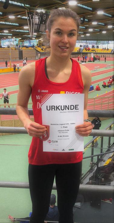 Johanna Pulte freut sich über ihren ersten Westfalentitel