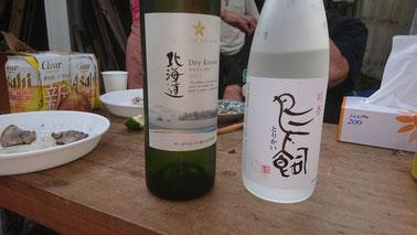 差し入れのワインと焼酎(最近TVで有名に…)