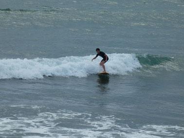 テストが終わったのでご褒美SURFING。今日はぐっすりだね。