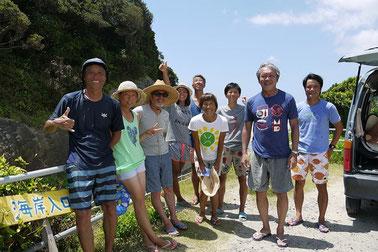 一番手前が松田大児さん また一緒に海入りたいなぁ~