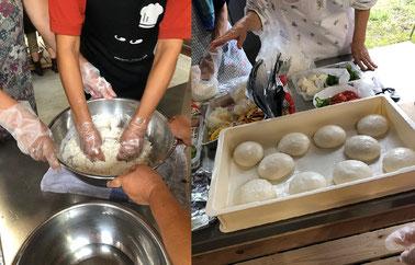 強力粉に塩とイースト菌と水を入れてコネコネ。結構力がいりました。そして無事発酵も出来。