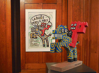 Speedy Graphito, la Ruée vers l'art, affiche et sculpture, 1986 / Photo JH