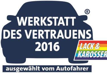 Werkstatt des Vertrauens 2016 -  Autolackiererei Streng GmbH