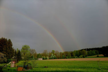 Doppelter Regenbogen über Oberönz