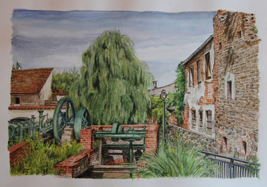 Storkow (Mark) - Aquarell - 30x40cm