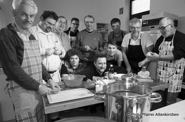 Männerkochgruppe der Prot. Pfarrei Altenkirchen