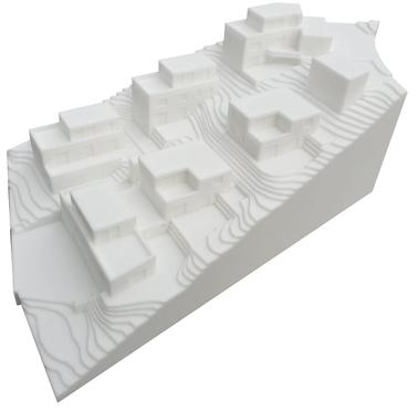 3D-Druck Verkaufsmodell im Maßstab 1:200
