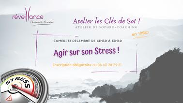 """Agir sur son stress : atelier de sophro-coaching """"les Clés de Soi"""" du samedi 12 décembre 2020"""