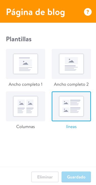 Con las plantillas puedes personalizar tu blog fácilmente