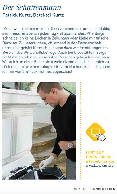 Berufsporträt Leipziger Detektiv Patrick Kurtz Magazin Leipziger Leben