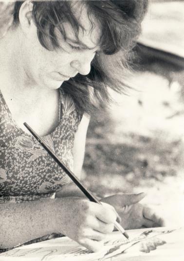 Bettina beim Malen, 1978