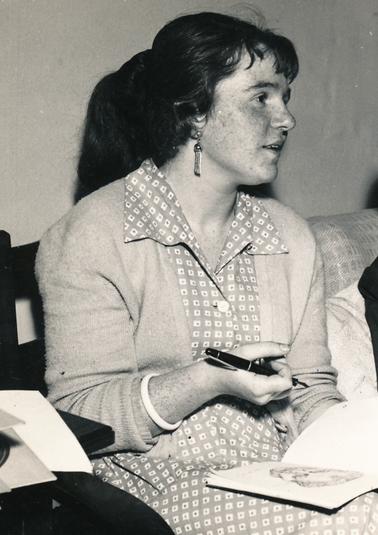 Die Kunststudentin Bettina an der königlichen Kunstakademie in Kopenhagen, 1958
