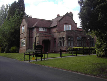 The entrance lodge on Weoley Park Road