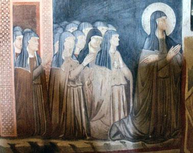 Heilige Klara und ihre Mitschwestern