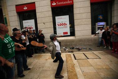 Anti-bank aktion i Malaga