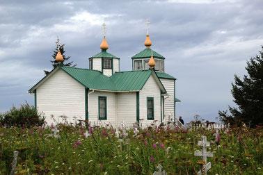 L'église orthodoxe de Ninilchik