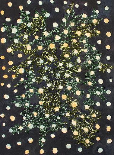 Simina Badea, je dunkler die Nacht, desto heller leuchten die Sterne, Aquarell auf Bütten, 2019, 23x31cm
