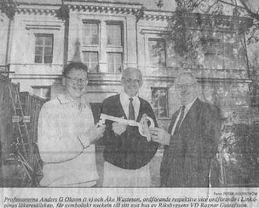 Nyckelöverlämnandet den 17 september 1991.