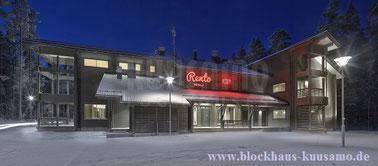 Blockhaushotel in massiver Blockbauweise