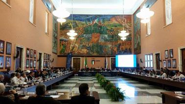 Der ETU Kongress fand in den Räumlichkeiten des Nationalen Olympischen Komitees Italiens (CONI) statt.