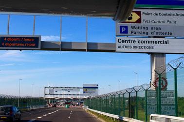 Zufahrt zum Eurotunnel, Calais