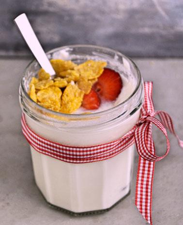 Joghurt kann man auch ohne Joghurtbereiter und mit Zutaten aus dem Vorrat ganz leicht selbst machen
