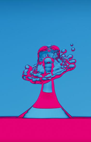 Splash-Fotografie, Tropfen, Falschfarben, Dr. Ralph Oehlmann, Oehlmann-Photography