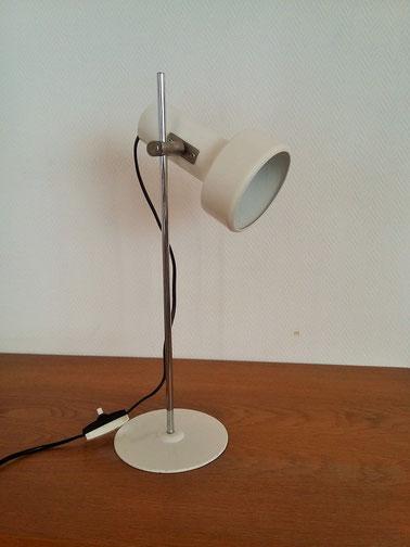 lampe de bureau beige vintage