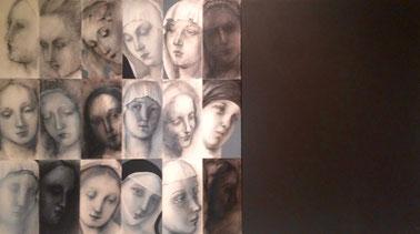 Virgin faces - Marta Czok, 2010 - acrilico e grafite su tela