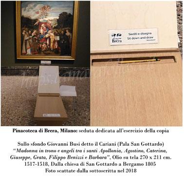 T.Follesa_Originali e Copie: l'inganno della duplicità_Pinacoteca di Brera Milano_Seduta per disegno
