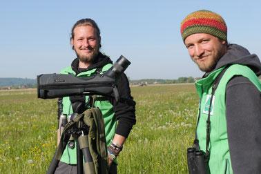 Unsere Gebietsbetreuer: Tobias Petschinka (li.) und Jan Heikens