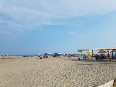 Am Strand von Sarzana, ital. Riviera (La Spezia)