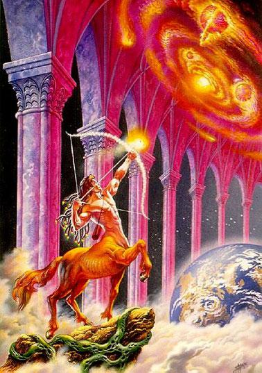 Le Sagittaire montre une clé pour bien vivre l'éclipse solaire totale : se questionner, élever sa pensée, l'emplir de sagesse