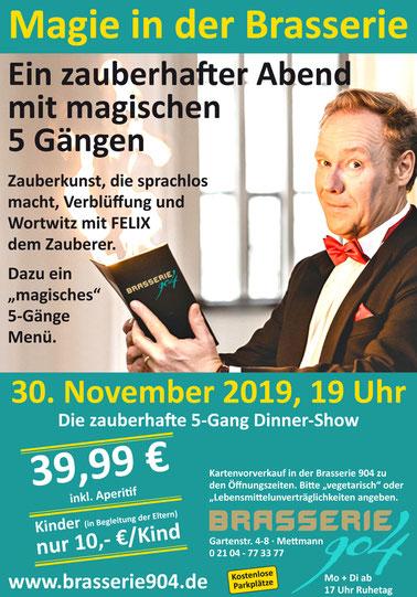 Magie in der Brasserie - Zauber-Show