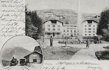 Engadin Press Co, gestempelt 19. August 1908