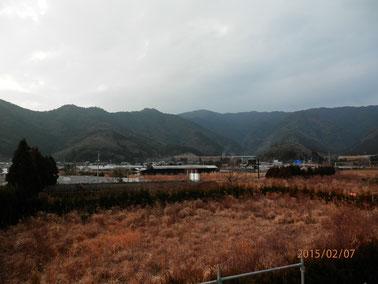 蒲江IC付近の様子。