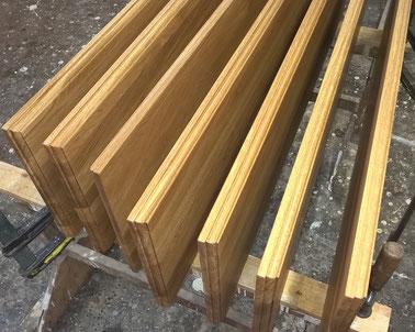 Holzfensterbaenke Eiche geölt