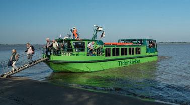 """Bild: Das Schiff """"Tidenkieker auf der Niederelbe mit der wir eine Schiffs-Safari unternahmen."""