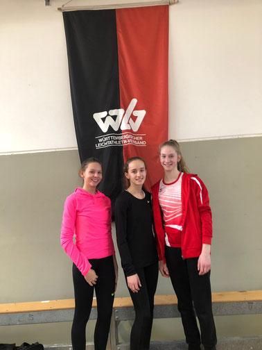 U16: Anna-Maria Fiesel, Karolina Bloching, Katharina Renz (von links nach rechts)