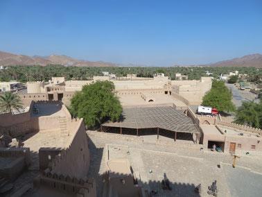Von dem Fort in Rustaq hat man einen schönen Ausblick auf die Oasenstadt