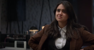 Geraldine Viswanathan as Eliza in Miracle Workers (2019)